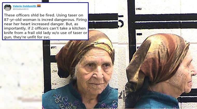 taser, us police tase grandma, old woman tased us police, georgia police tase old woman, taser 87 year old woman, viral news, us news, indian express