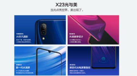 Vivo X23 official images reveal in-display fingerprint sensor and more