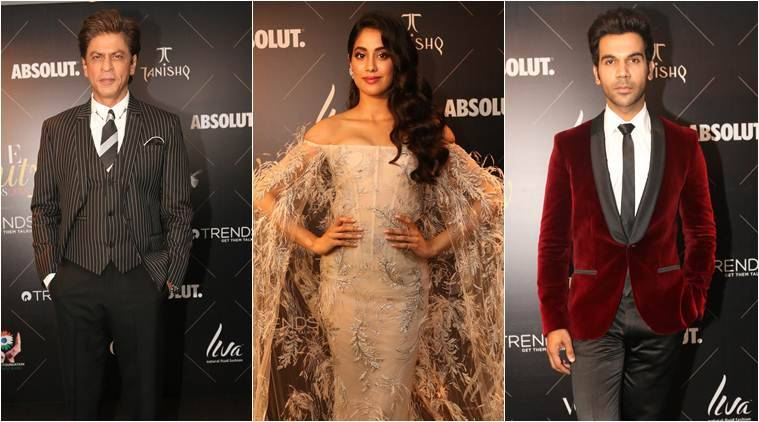 janhvi kapoor, rajkummar rao, shah rukh khan at vogue beauty awards