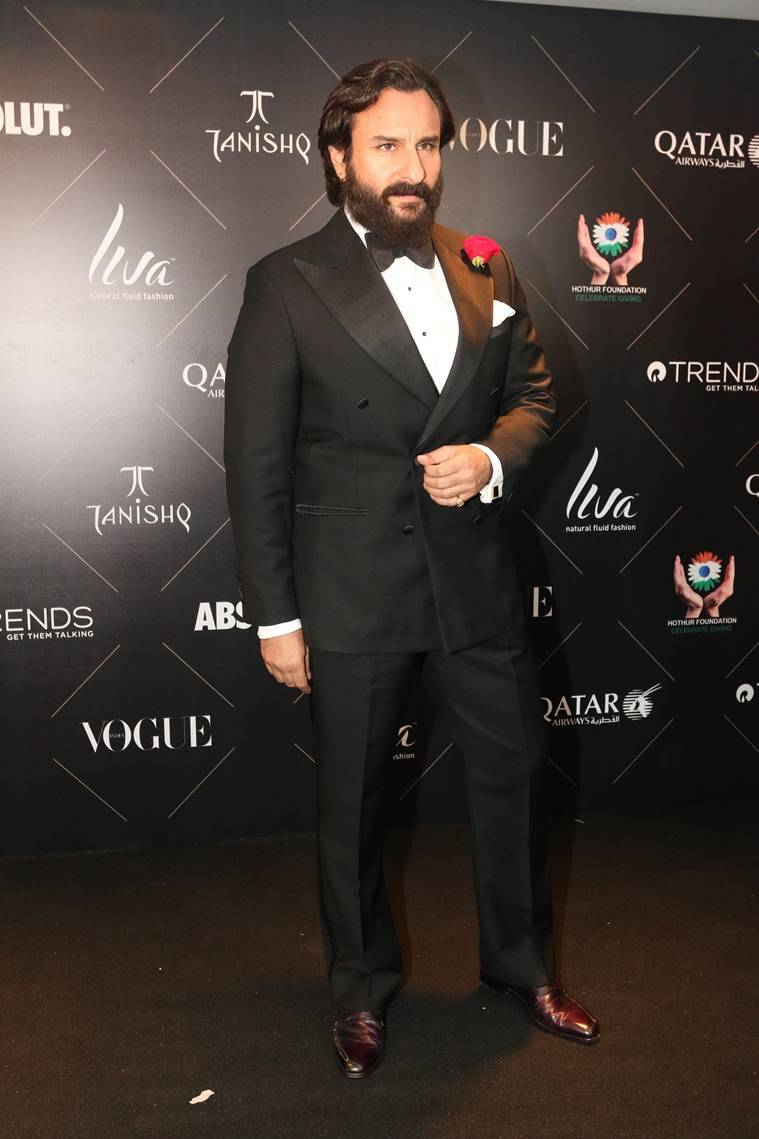 saif ali khan at vogue beauty awards 2018