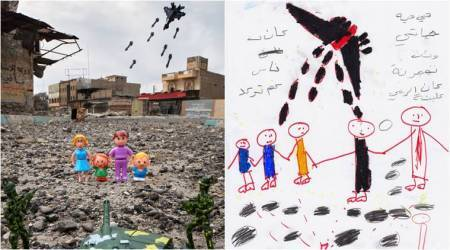Toys in war zone: Artist shares war stories through children's eyes