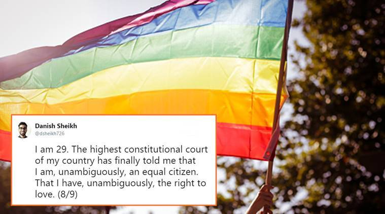 section 377, section 377 verdict, decriminalise homosexuality, supreme court of india, supreme court section 377 review, lgbtqia community india, decriminalise homosexuality, same sex marriage, india gay sex laws, section 377 abolishment, india news, indian express, social media news, india news