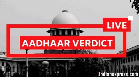Aadhaar verdict LIVE Updates: Supreme Court upholds constitutional validity, reads down parts of Act