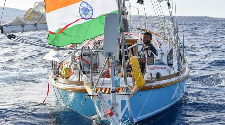 golden globe race, golden globe race 2018, Abhilash Tomy, Abhilash Tomy rescue, Indian navy, Abhilash Tomy news, Golden globe race news, Indian Express