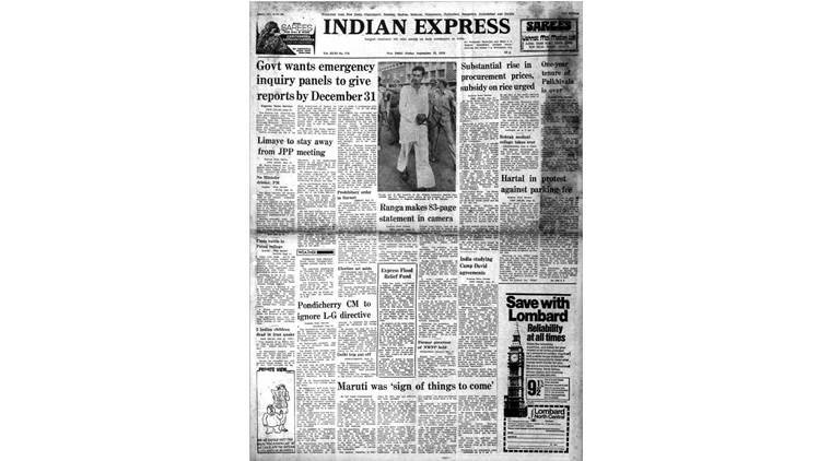 indian emergency, emergency era, shah commission, Madhu Limaye, Morarji Desai, Camp David, indian express forty years ago