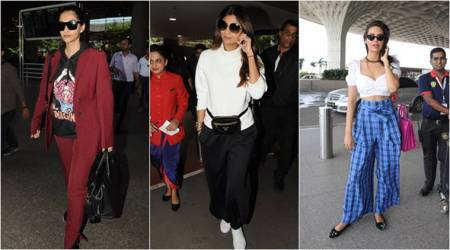 Airport Looks: Shilpa Shetty and Esha Gupta stick to basics but Sonam Kapoor has us scratching our heads
