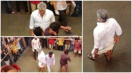 Viswasam on-set photos: Ajith shoots for a cagefight