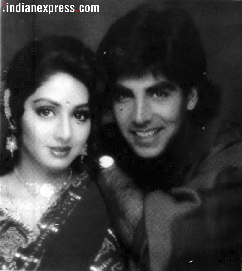 akshay kumar with sridevi