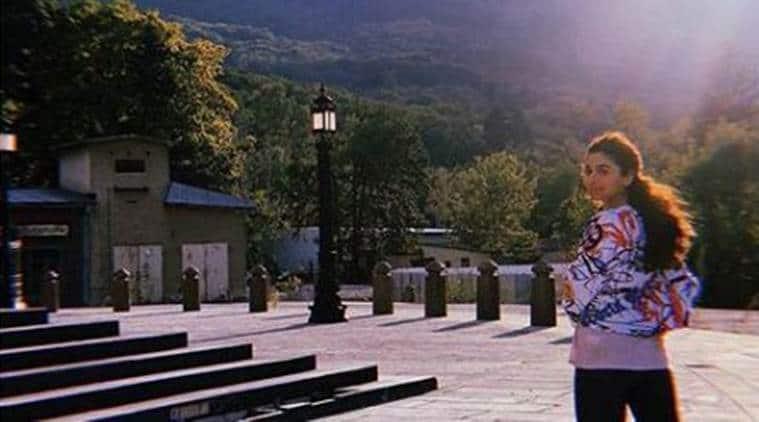 Alia Bhatt clicked by Ranbir Kapoor on the sets of Brahmastra