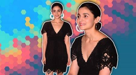 Alia Bhatt shows how to jazz up a simple look in this LBD; see pics