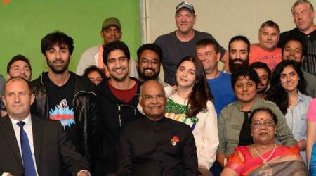 Alia Bhatt and Ranbir Kapoor host President Ram Nath Kovind on the sets of Brahmastra in Bulgaria