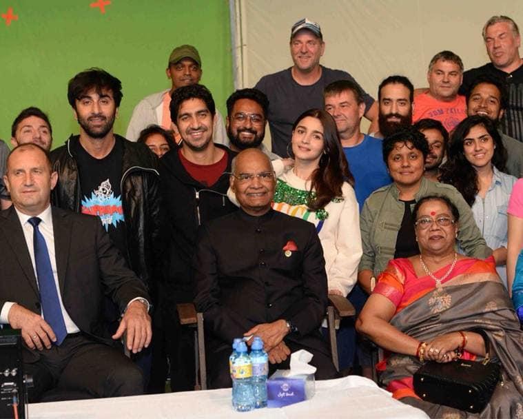 alia bhatt, ranbir kapoor with president Kovind