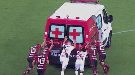 WATCH: Players rescue ambulance in Brazil league match