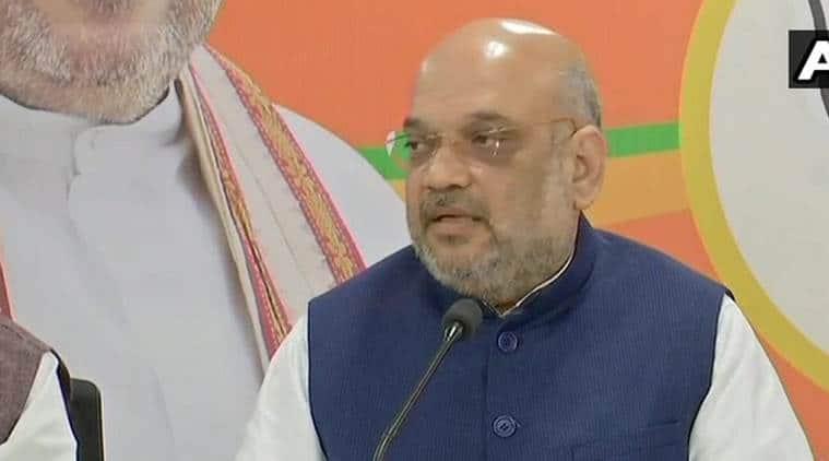 Amit Shah, Amit in Hyderabad, Amit shah telangana, Telangana elections, BJP, 2019 elections, 2019 lok sabha election, One nation one poll, KC Rao, telangana government, india news, Indian express news