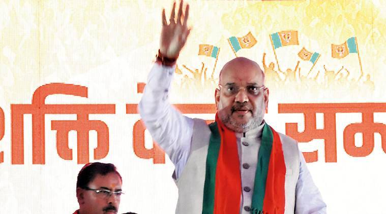 Amit Shah,amit shah election, amit shah jaipur speech, Bangladeshi migrants, Amit Shah on Bangladeshi migrants, akhlaq lynching, award wapasi, award wapasi bjp, amit shah 2019 elections, bangladesh migrants, Narendra modi, lok sabha elections, indian express news