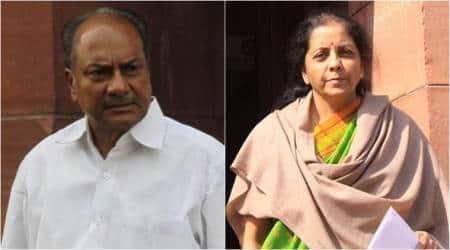 Nirmala Sitharaman suppressing facts on Rafale deal, making false claims: AK Antony