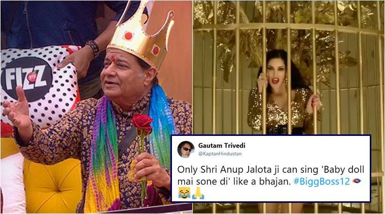 big boss 12, anup jalota, baby doll, sunny leone, anup jalota baby doll, anup jalota big boss song, viral news, funny news, entertainment news, indian express