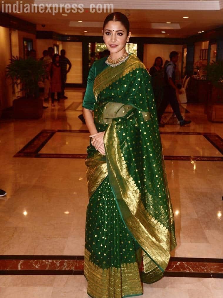 Anushka Sharma, Anushka Sharma sari looks, Anushka Sharma fashion