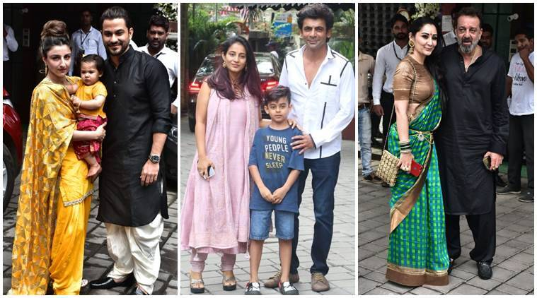 Soha Ali Khan, Sunil Grover, Sanjay Dutt Arpita Khan Ganesh Chaturthi celebration photos