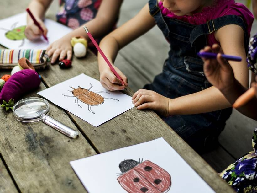 art and colouring kids