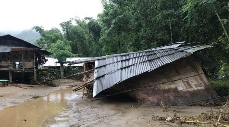 Arunachal pradesh, flash floods arunachal, itanagar floods, flash floods in itanagar, itanagar news, itanagar flood updates, india news, indian express, latest news