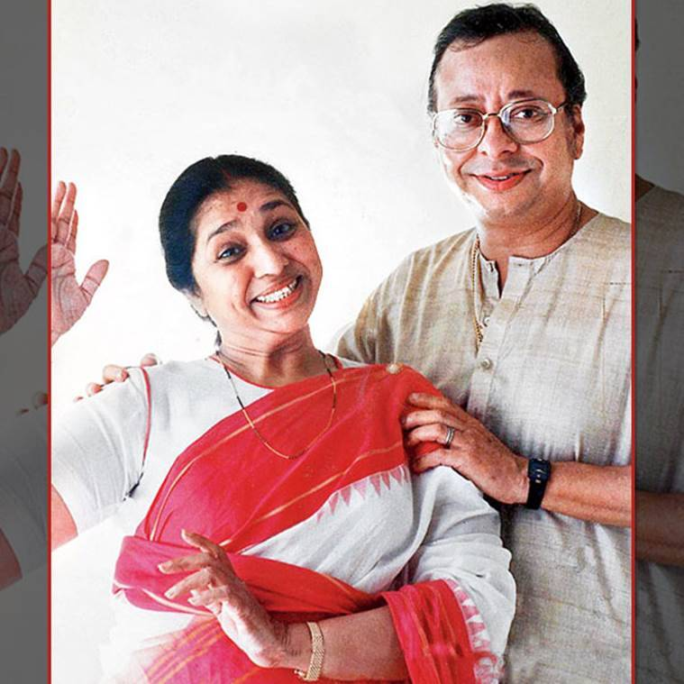 Asha Bhosle with RD Burman.