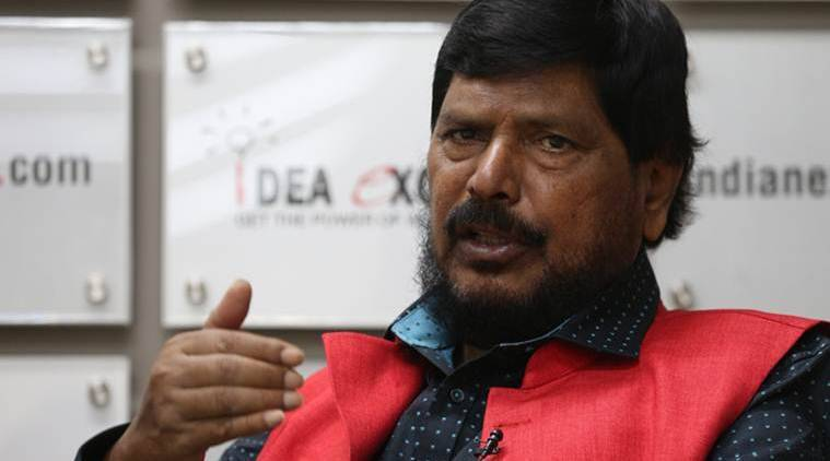 Union MoS for Social Justice and RPI(A) president Ramdas Athawale. (Express photo)