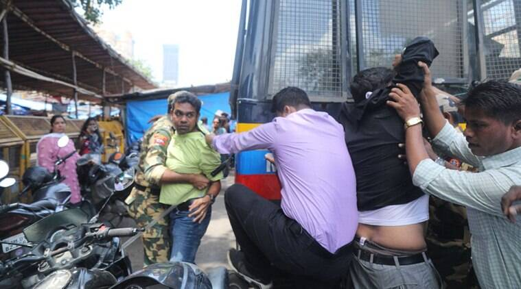 Around 300 bandh supporters were detained in Gujarat. (Express photo/Nirmal Harindran)