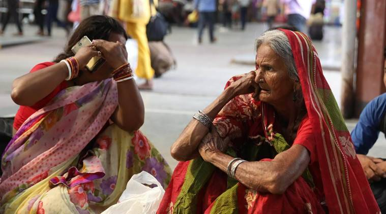 Several passengers were left stranded at Howrah Station due to the 12-hour bandh today. (Express photo/Partha Paul)