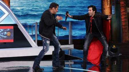 Salman Khan and Varun Dhawan to re-enact Andaz Apna Apna scene on Bigg Boss 12