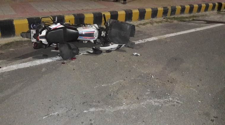 In their defence, the constables said they sustained knee injuries after their bike was hit by the deceased's car. (Express photo/Vishal Srivastav)