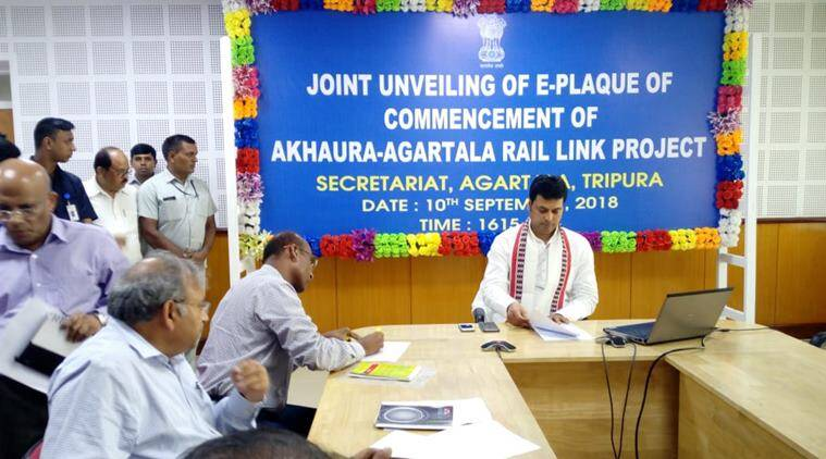 India, Bangladesh jointly inaugurate work for Agartala-Akhaura rail project