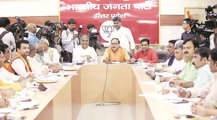 Bharatiya Janata Party, 2019 elections, Uttar Pradesh, PM Modi birthday, Atal Bihari Vajpayee death anniversary, BJP UP, BJP events, BJP, Lucknow, Indian express
