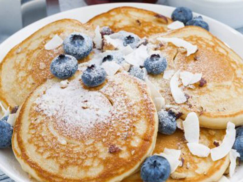 Make this yummy blueberry coconut pancake the indian express blueberry coconut pancake recipe ccuart Images