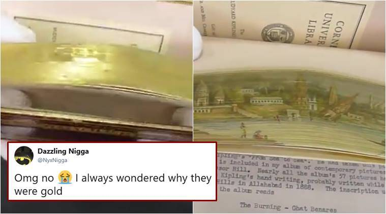 books, book golden edges, fore-edge painting, hidden painting old books, book edges hidden painting, viral news, odd news, indian express