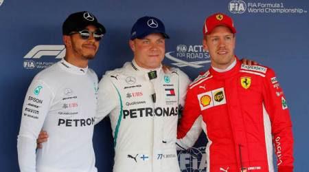 Valtteri Bottas pips Lewis Hamilton to pole at Russian Grand Prix