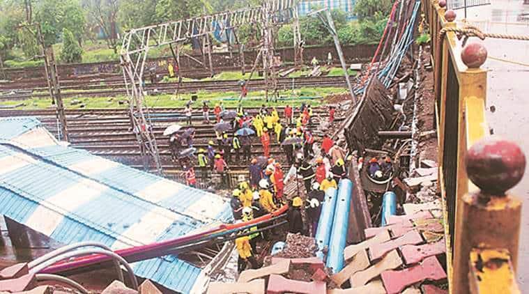 G K Gokhale bridge collapse, railway minister piyush goyal, indian express, western railway, india news