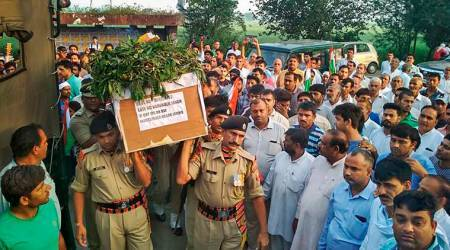 Amid anger against Pakistan, mortal remains of BSF jawan consigned to flames in Sonipat