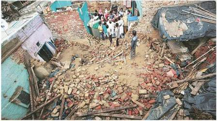 Delhi: Two women dead as two buildings collapse in NCR amid heavy rain