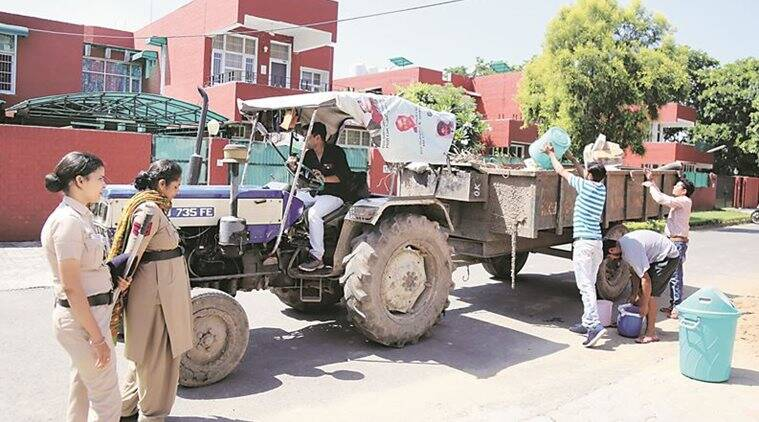 Chandigarh Municipal Corporation trolleys come playing Swachh jingles to collect waste