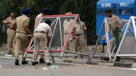 panchkula protest, chandigarh news, protests in panchkula, haryana assembly polls,