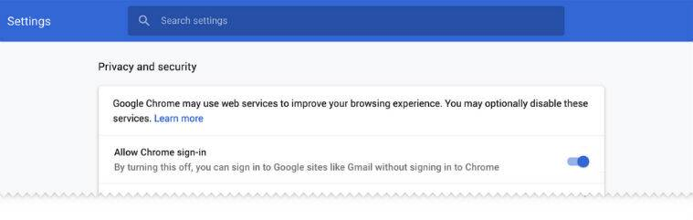 Google Chrome version 70 to address privacy issues with user sign-in