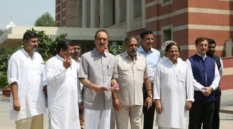 rafale deal, rafale scam, congress meets cag,Comptroller and Auditor General of India, Rafale fighter jet deal, randeep surjewala, anand sharma, ravi shankar prasad