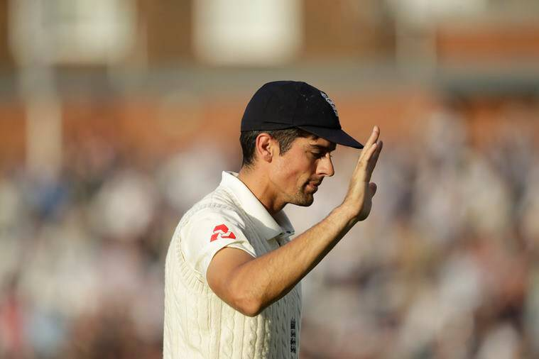England's Alastair Cook, in his last ever match before retiring from test cricket, waves as he walks off at the end of the day's play during the fifth cricket test match of a five match series between England and India at the Oval cricket ground in London