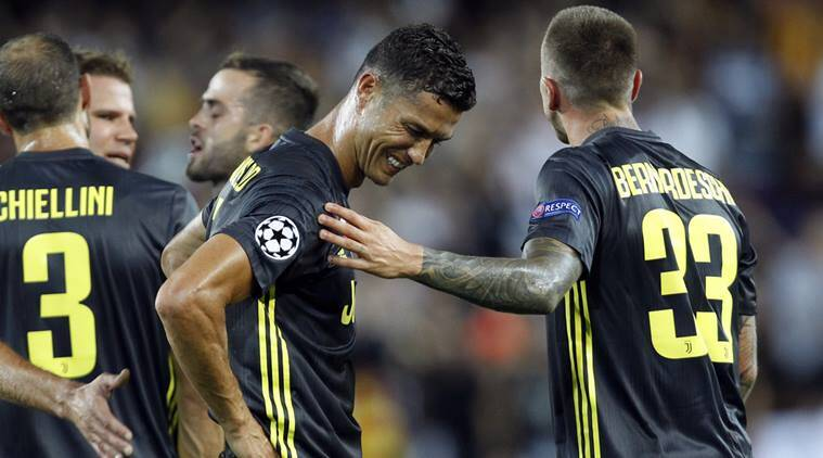 Cristiano Ronaldo sent off in first Champions League game with Juventus