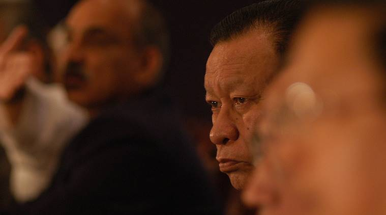 D D Lapang quits Congress, DD Lapang quits, former Meghalaya chief minister quits Congress, Congress veteran from Meghalaya quits, Meghalaya, India, Indian Express