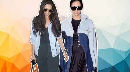 While Deepika kept her denim look simple, we are really confused about what Sonam Kapoor wore