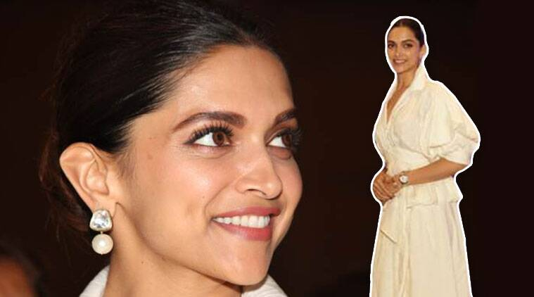 deepika padukone, deepika padukone fashion, deepika padukone in white, deepika padukone white ensemble, indian express, indian express news
