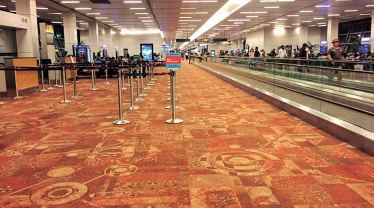 Delhi airport, carpet for Delhi Airport, T3 terminal delhi airport, jayant Sinha, aviation ministry, indian express