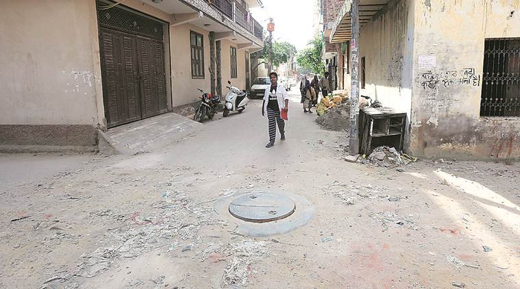 At the spot where Anil died. (Express photo/Prem Nath Pandey)